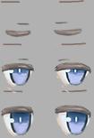 目のまばたきアニメーションで用いるテクスチャ