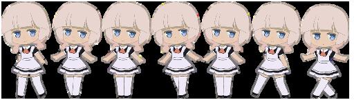 スプライトアニメーションで用いるスプライトの例